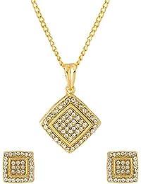 Voylla Traditional Metal Pendant Set For Women(Gold) (8907617152622)