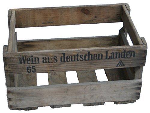Kistenkolli Altes Land 4 Stück Schöne Originale Weinkisten mit Aufschrift 46cm x 30,5cm x 24cm Apfelkiste/Obstkiste/Holzkiste