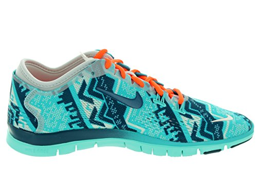 Nike Free 5.0 Print, Chaussures de running entrainement femme Lght Ash Gry/Ivry/Hypr Crmsn/H