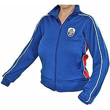 266d54731e9c Adidas Linear Track Top Jacke Sportjacke Damen blau-rot NEU