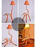 XHX Lampadaire, vertical créatif pour abat-jour en tissu de dessin animé mignon pour chambre d'enfants et lampadaires pour ampoule de salon inclus,Modèle de contrôle à distance