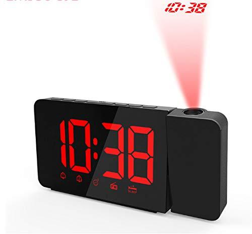 Asdf Despertador Escritorio Eléctrico Led Radio Reloj