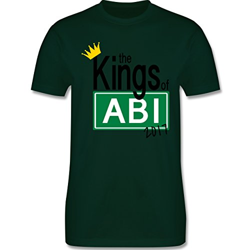 Abi & Abschluss - The Kings of Abi 2017 - Herren Premium T-Shirt Dunkelgrün