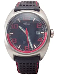 Montre LOTUS 15322/F Sport Bracelet en cuir Noir Couture rouge