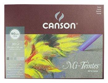 Canson : Mi-Teintes : Pastel Pad : 24x32cm : 30 Sheets : Grey Tones -