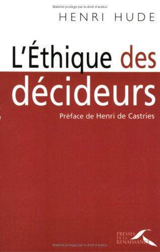ETHIQUE DES DECIDEURS