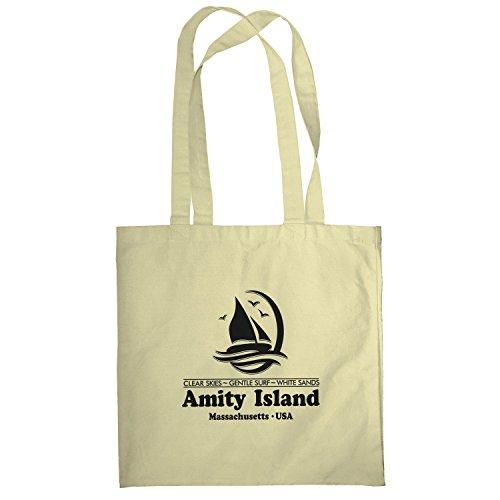 Texlab–Amity Island–sacchetto di stoffa Naturale