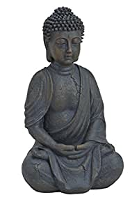 buddha figur sitzend betend 25cm in braun deko artikel f r wohnung haus buddha skulptur. Black Bedroom Furniture Sets. Home Design Ideas