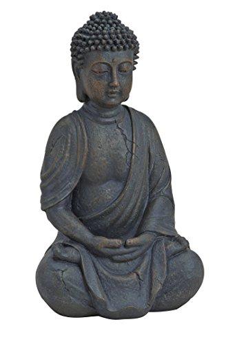 Buddha-Figur sitzend, betend 25cm in Braun | Deko-Artikel für Wohnung & Haus | Buddha-Skulptur, Wohnaccessoire ideal als Geschenk | Buddha-Statue...