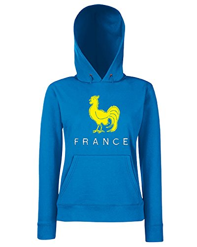 T-Shirtshock - Sweats a capuche Femme TRUG0171 ruggershirts france rugby vintage t logo Bleu Royal