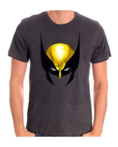 Horror-Shop Original Wolverine Maske Motiv T-Shirt von Marvel für Superhelden Fans XL (Original X Men Kostüm)