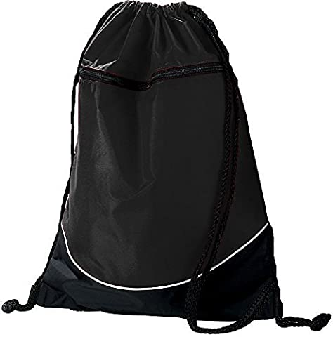 TRI-COLOR DRAWSTRING BACKPACK Augusta Sportswear OS Black/Black/White by Augusta Sportswear