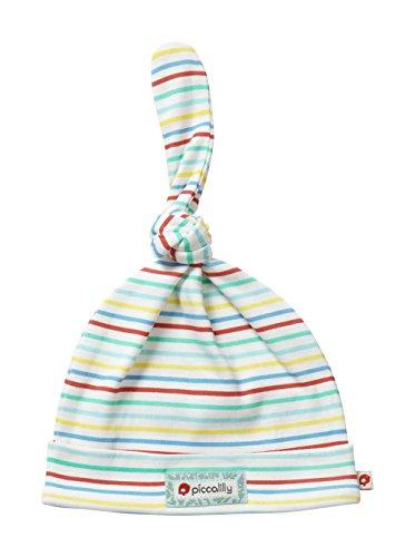Piccalilly Bio-Baumwolle Vielfarbig Gestreifte Unisex Baby Geknotete Mütze (Mütze Gestreifte Baby)