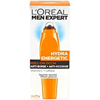 L'Oréal Paris Men Expert Hydra Energetic - Roll-on occhi anti-borse + anti-occhiaie - 10 ml