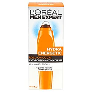 L'Oréal Paris Men Expert Hydra Energetic - Roll-on occhi anti-borse + anti-occhiaie - 10 ml