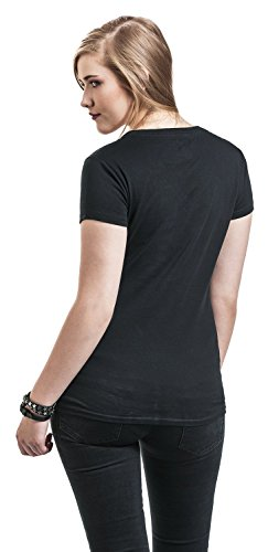 Full Volume by EMP Guitar Birds V- Neck Girl-Shirt Schwarz Schwarz