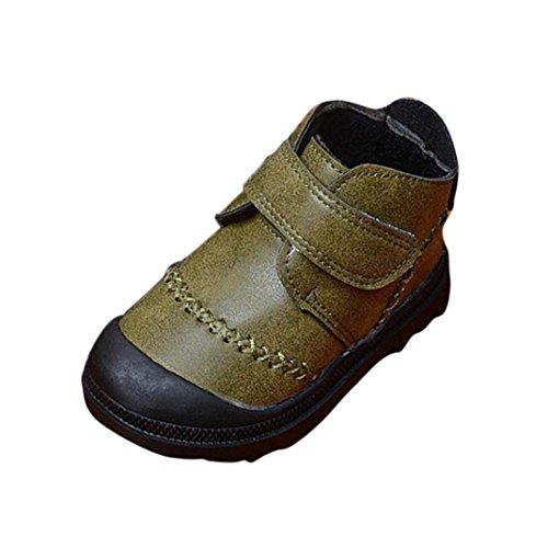 Jamicy® Kleinkind Kleinkind Baby Mädchen jungen Kinder Winter Dicke Schnee Stiefel Lederschuhe Grün