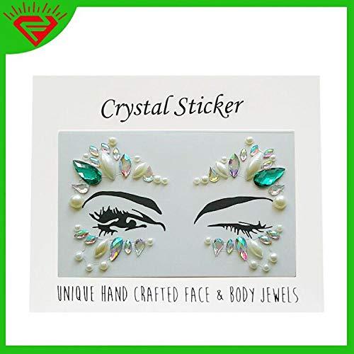 Kristall Gesicht Tattoo Aufkleber bohren Auge dekorative Diamant Aufkleber Stirn Augenbrauen Aufkleber diy