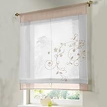 simpvale bordado de flor cortina visillos en organdi paramento superior y bordado lino xcm