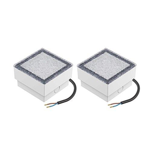 parlat LED Stein Bodeneinbauleuchte CUS, 10x10cm, 230V, kalt-weiß, 2 STK.