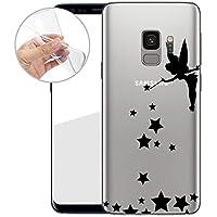 TPU Handyhülle für Dein Samsung Galaxy S9 von finoo Made In Germany Hülle mit Motiv für Optimalen Schutz Silikon Tasche Case Cover Schutzhülle für Dein Samsung Galaxy S9-Fee zaubert Sterne
