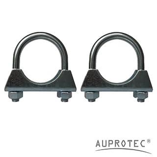AUPROTEC 2 Stück Bügelschelle Rohrschelle Ø38-76 mm Auswahl: (2 Stück Ø 42 mm)