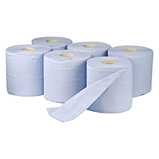 Blue Paper Rolls - 2 Ply Embossed Centre Feed ASH - Hand Towel - 130 Metre (6)