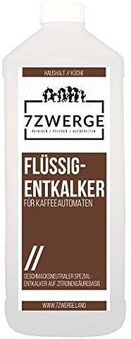 7Zwerge Flüssig-Entkalker 1000ml 1 Liter für Kaffeeautomat Kaffeevollautomat Kaffeemaschine Reiniger Entkalkung