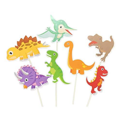 Toyvian Cake Topper Cupcake Topper Animales en Forma de Dinosaurio Decoración para...