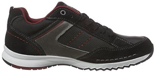 Dockers by Gerli 38av006-201, Sneaker Basse Uomo Nero (Schwarz (schwarz/grau 120))