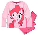 Pony My Little Schlafanzug Mädchen Lang Rundhalsausschnitt (Rosa, 128)