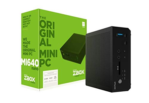 Zotac Zbox MI640 Barebone nano mini-PC (Intel Core i5-8250U quad-core, Intel UHD Graphics 620)