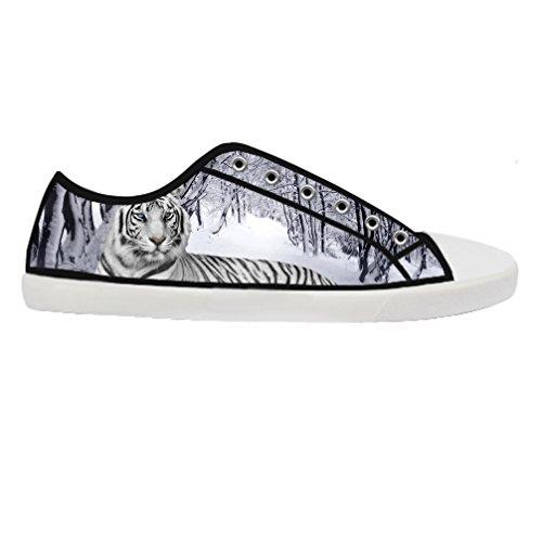 Cheese Weihnachten Tiger Schuhe Damen niedrige von Low-Top Originals Damen Tennis Canvas Schuhe, EUR 40 - Niedrig Skateboard-schuhe