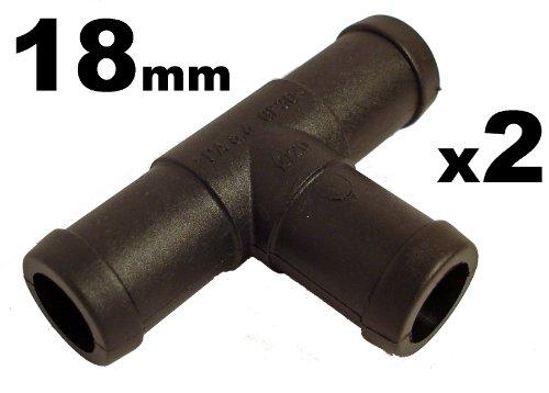 Schlauchverbinder Kunststoff T-Stück x2 - Außendurchmesser 18mm- Für Schläuchen