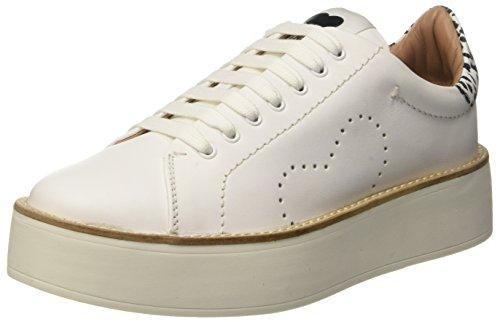 TWIN SET Cs7pj1, Sneaker a Collo Basso Donna Multicolore (Bianco Seta/Nero)