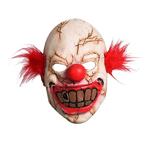 LJSHU Halloween Clown Maske Bar Scary Terrorist Gesicht Clown Karneval Whole Man Lustige Teufel Maske (Gesichter Clown Halloween Scary)