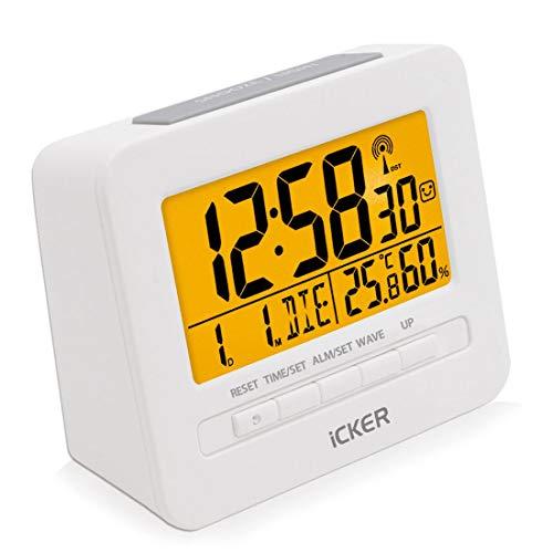 Digitalwecker Digitaluhr große LCD-Ziffern mit Hintergrundbeleuchtung Weiß