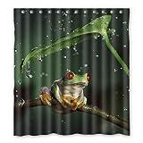Dalliy Brauch regen frosch Wasserdicht Polyester Shower Curtain Duschvorhang 167cm x 183cm