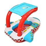 all Kids United Baby Schwimmhilfe Schwimmsitz Babysitz Klein-Kinder Schwimmring - Flugzeug Babyboot UV-Schutz Dach