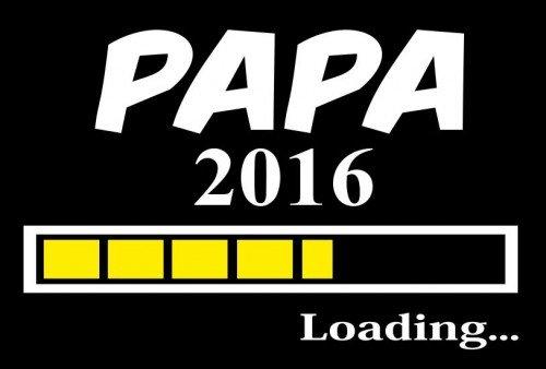 Coole-Fun-T-Shirts PAPA 2016-T-shirt  Uomo Arancione