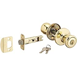 Kwikset 400T-3S Tylo Entry Door Locks Smart Key Bright Brass Finish