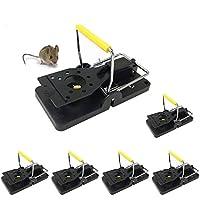 Rziioo Trampas para Ratones - Trampa para Ratones a presión, Trampa para Ratones, Asesino de roedores con Clip de Metal (6 Paquetes)