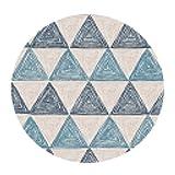 Moda Motivi Geometrici Tappeti Tappeti Camera da Letto Rotondi Tappeti per Soggiorno Tappeti per Bambini Tappeti Antiscivolo (Colore: B, Misura: Diametro 80cm)