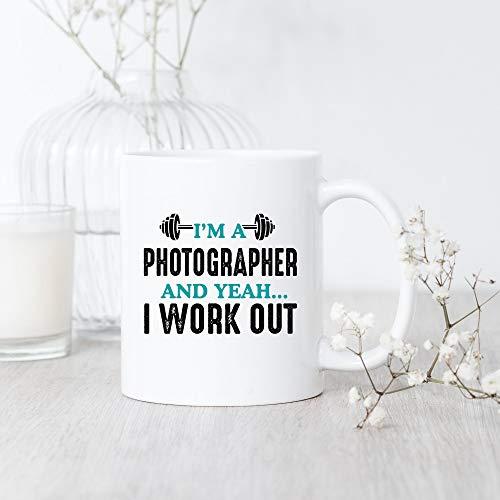 DKISEE Photographer I Work Out, Coffee Mug, Photographer Coffee Mug, Photographer Gift, Photography Coffee Mug, Workout Coffee Mug, Gym Lover Gift, Fitness Coffee Mug Large Mug 15oz