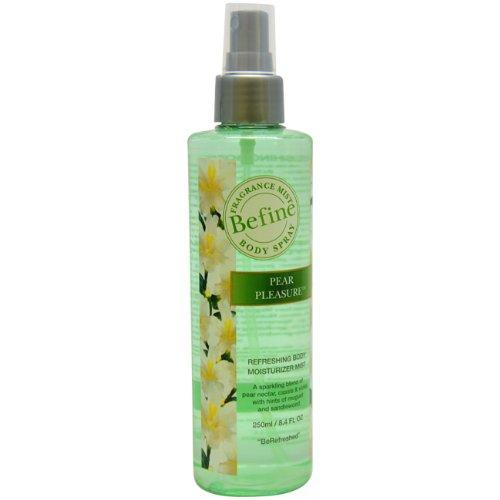 Befine Pear Pleasure Refreshing Body Moisturizer Mist Body Spray for Women, 8.4 Ounce by BEFiNE -
