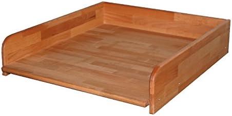 Praktischer Wickeltischaufsatz 60x70cm, Buche geölt, Wickelaufsatz für Waschmaschine oder Trockner, echtes Holz