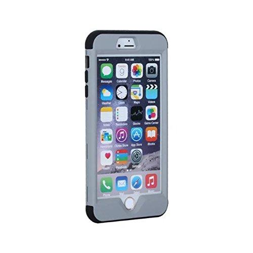 iPhone 6 Hülle,iPhone 6S Hülle,Lantier 3 in 1 Combo Slim Matt Matt Finish Design Shockproof Hybrid Dual Layer Hartschalenetui für Apple iPhone 6/6S 4.7 inch Schwarz Grey+Black