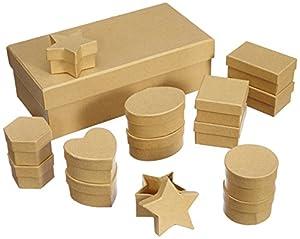 Folia 31510  - Set creativo de cajas de cartón (15 piezas) Importado de Alemania , Modelos/colores Surtidos, 1 Unidad