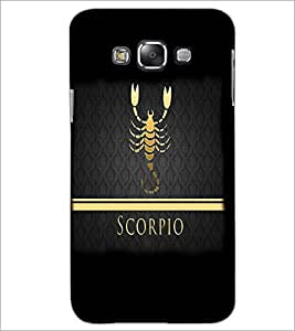 PrintDhaba Zodiac Scorpio D-4293 Back Case Cover for SAMSUNG GALAXY A7 (Multi-Coloured)