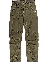 Herren Vintage Cargohose Fliegerhose aus Baumwolle mit vielen Taschen